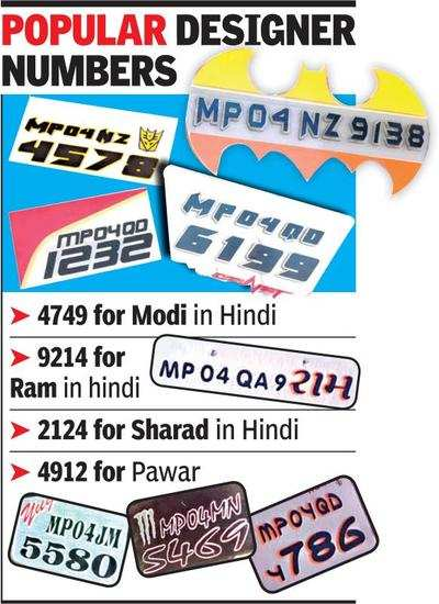 Designer Number Plates Bhopal News Times Of India