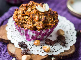 Apple Raisin Oat Muffins