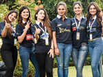 Miss Indias pose together duringthe Nexa P1 Powerboat race