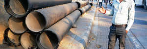 Pipe nightmare on Aundh-Baner Road
