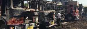 Pune: 4 trucks set ablaze in Khadakwasla, damage worth crores