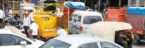 Market Yard on traffic control mode, thanks to APMC efforts