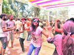 ​ Revellers during the Holi celebrations