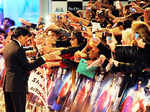 Shah Rukh shaking hands with fans