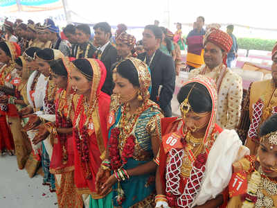 matrimonial meet: Inter-state mass marriage: East meets west in