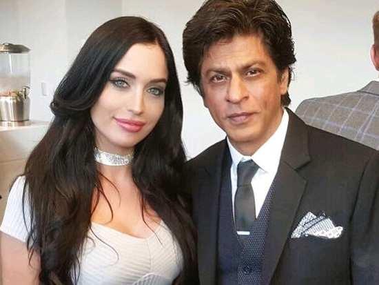 Shah Rukh Khan captured with Australian actress, Lucinda Nicholas at SF Film festival