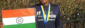 Visually impaired Indian runner Sagar Baheti completes historic Boston Marathon