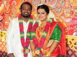 Vishnu Vijay and Madhuvanti Narayan pose together for a photo