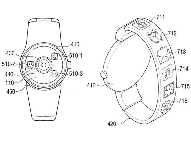 Samsung files patent for smartwatch with camera and tablet with flexible screen