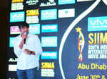 Sathish during siima press meet