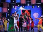 Bharti Singh, Neha Dhupia and Sohail Khan poses for the camera