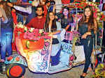 Sahil Verma, Vijeta Verma, Sana Fatima and Sanya Kapoor posing