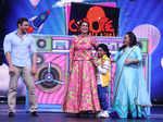 Sohail Khan, Neha Dhupia and Bharti Singh on the sets