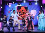 Sohail Khan, Neha Dhupia and Bharti Singh dancing
