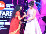 Trisha receives the Critics Best Actor Female award
