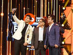 Allu Sirish taking selfie with  A. R. Rahman, Allu Aravind at 64th Jio Filmfare Awards South 2017