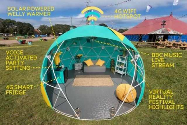 EE pitches 4G Smart Tent at UK's Glastonbury music festival