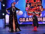 Bharti Singh and Vedansh Pagaare on the sets