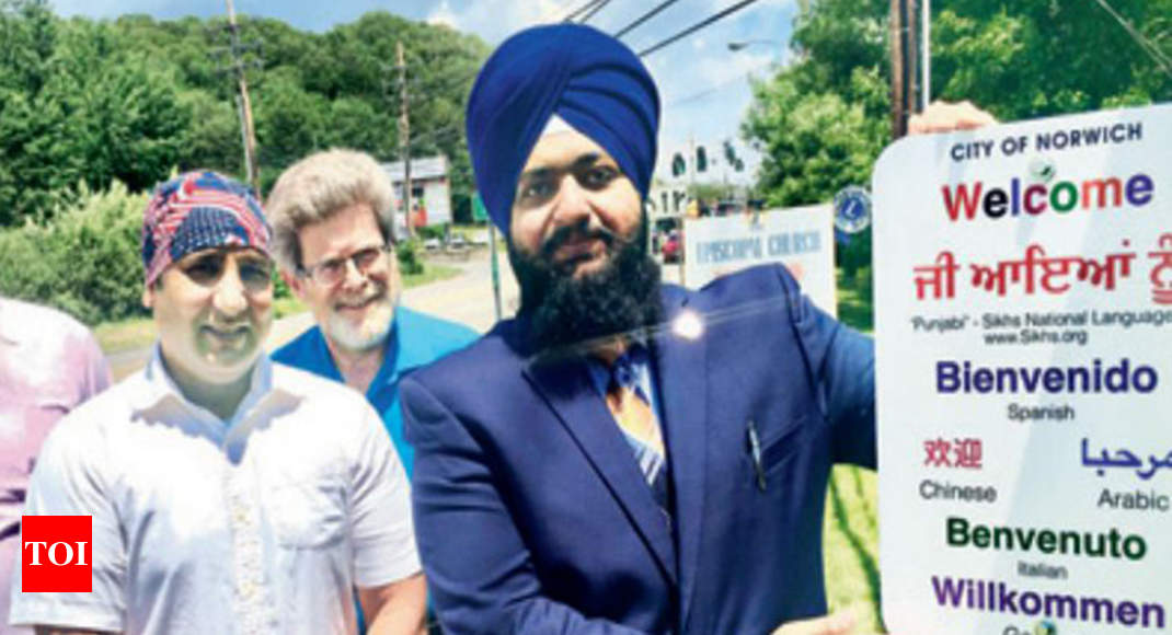 Norwich norwich first us city to greet visitors with punjabi norwich norwich first us city to greet visitors with punjabi signage chandigarh news times of india m4hsunfo