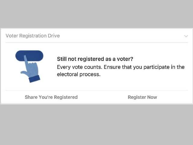 This is the first time that Facebook's voter registration reminder has been rolled out across India.