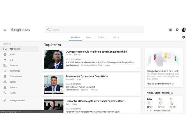Google News gets a new and improved design