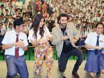 Ranbir Kapoor and Katrina Kaif pose for the photogs