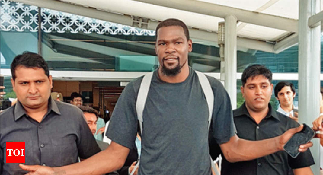 70c744936416 Kevin Durant  Kevin Durant arrives in Delhi amidst growing excitement