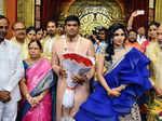 K Chandrashekhar Rao at Sahari and Raches Veerendra Dev's wedding