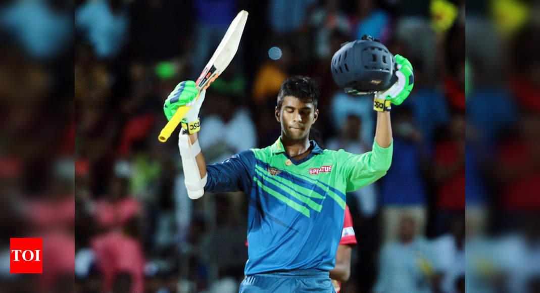 Washington Sundar Tnpl Washington Sundar Stars In Tuti Patriots Victory Cricket News Times Of India