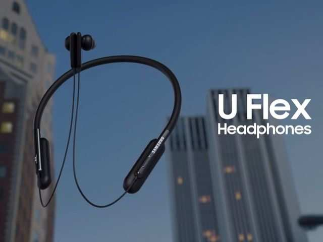 fe445d04cea Samsung U Flex around-the-neck wireless headphones launched ...