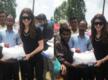 Urvashi Rautela visits flood affected areas of Uttarakhand