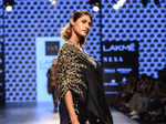A model walks the ramp for Sonam & Paras Modi