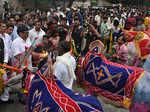 Sudhakar Deshmukh performs rituals
