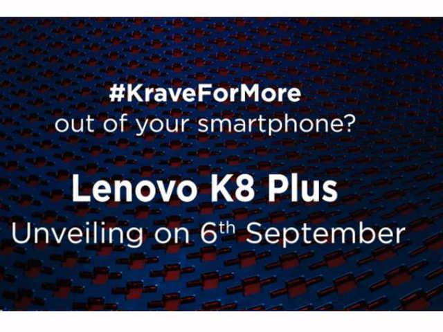 Lenovo K8 Plus smartphone to launch in India tomorrow