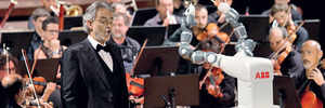 YuMi the robot conducts Verdi in Italy