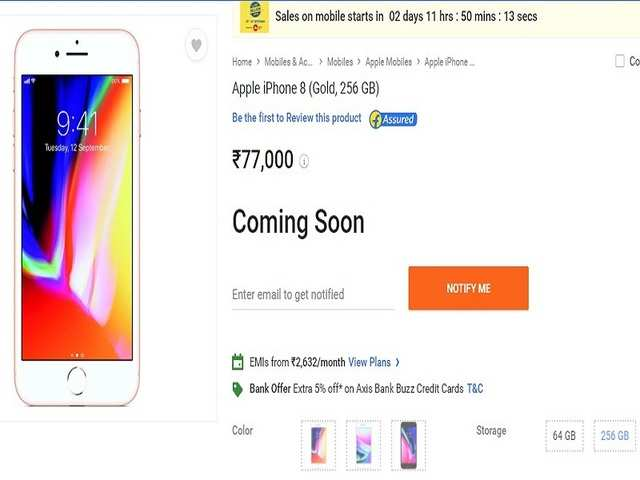 The two new iPhones are going on sale in India a week after their launch in the US and some other regions.