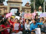 Protest at Banaras Hindu University
