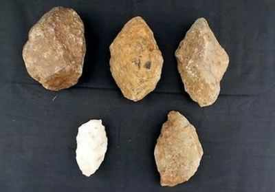 Ancient structures, stone-age tools found | Hyderabad News - Times