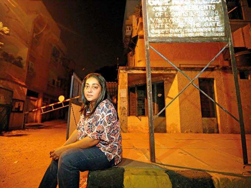 Meghna Gulzar in Noida's Jalvayu Vihar on the evening of Aarushi verdict (BCCL/ Ajay Kumar Gautam)