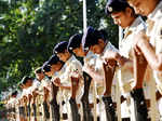 ​ Police persons paying tribute to martyrs