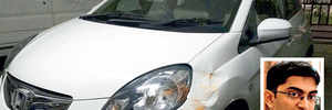 'PMPML bus damaged my car, but I was hit, threatened by policemen'