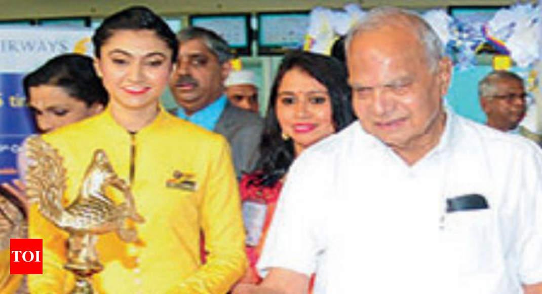 tamil nadu governor inaugurates chennai paris flight chennai news times of india. Black Bedroom Furniture Sets. Home Design Ideas
