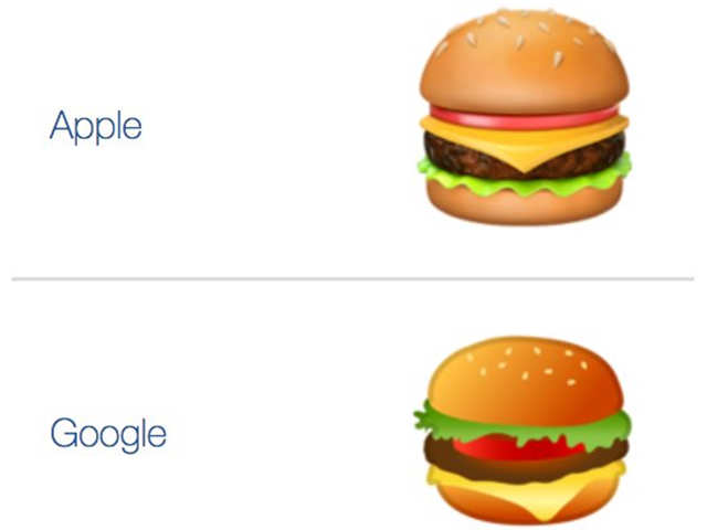 The debate started when a user sought a discussion on how the placement of cheese in the burger emoji differed on Google and Apple.