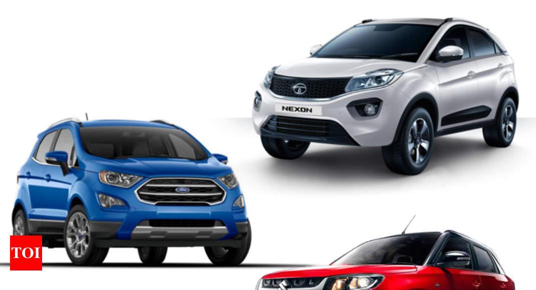 Maruti Suzuki New Ford Ecosport Vs Maruti Suzuki Vitara Brezza Vs Tata Nexon Times Of India