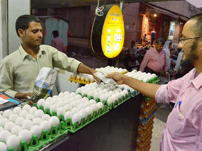 egg retail rates: Eggs selling at Rs 5 70 in wholesale