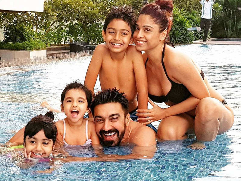 PIC: Ashish Chowdry chills with family after wrapping up Dev - Times of  India