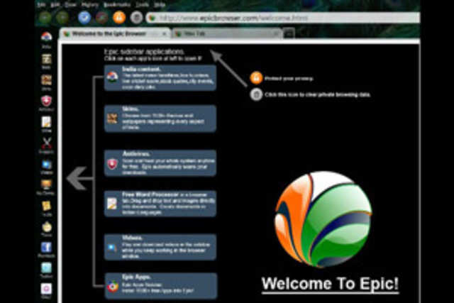 Internet browser Epic currently support 12 Indian languages