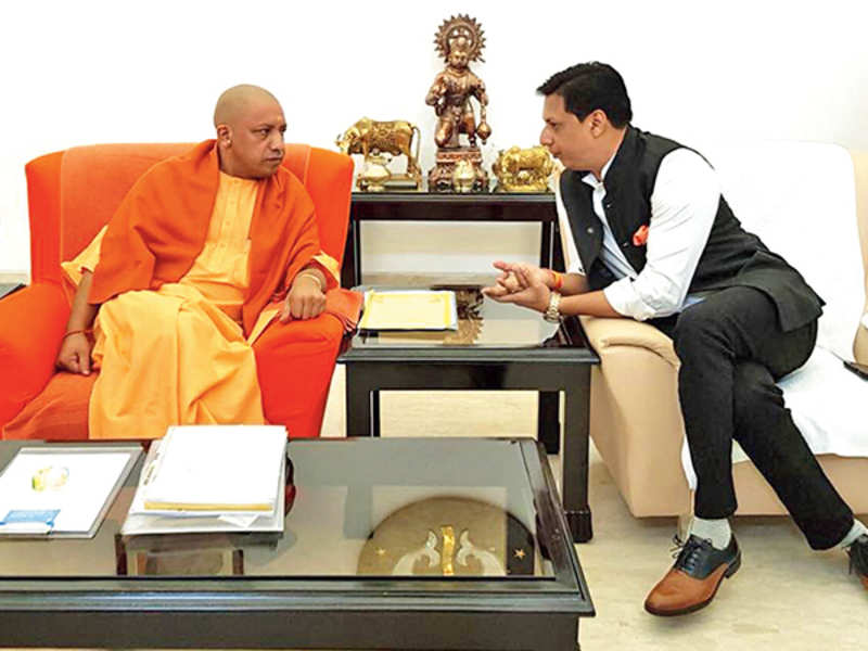 Madhur Bhandarkar met UP CM Yogi Adityanath in Lucknow on Tuesday (BCCL)