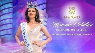 Watch Miss World Manushi Chhillar's homecoming parade