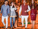 Soha Ali Khan arrives with Kunal Kemmu, Sharmila Tagore, Saif Ali Khan and Kareena Kapoor Khan